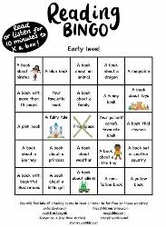 P1 Reading Bingo