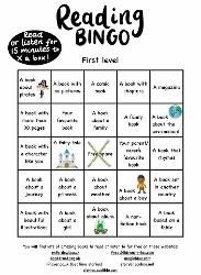 P2-P4 Reading Bingo